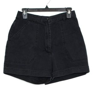 Woolrich Womens Shorts High Rise Black 10 BL